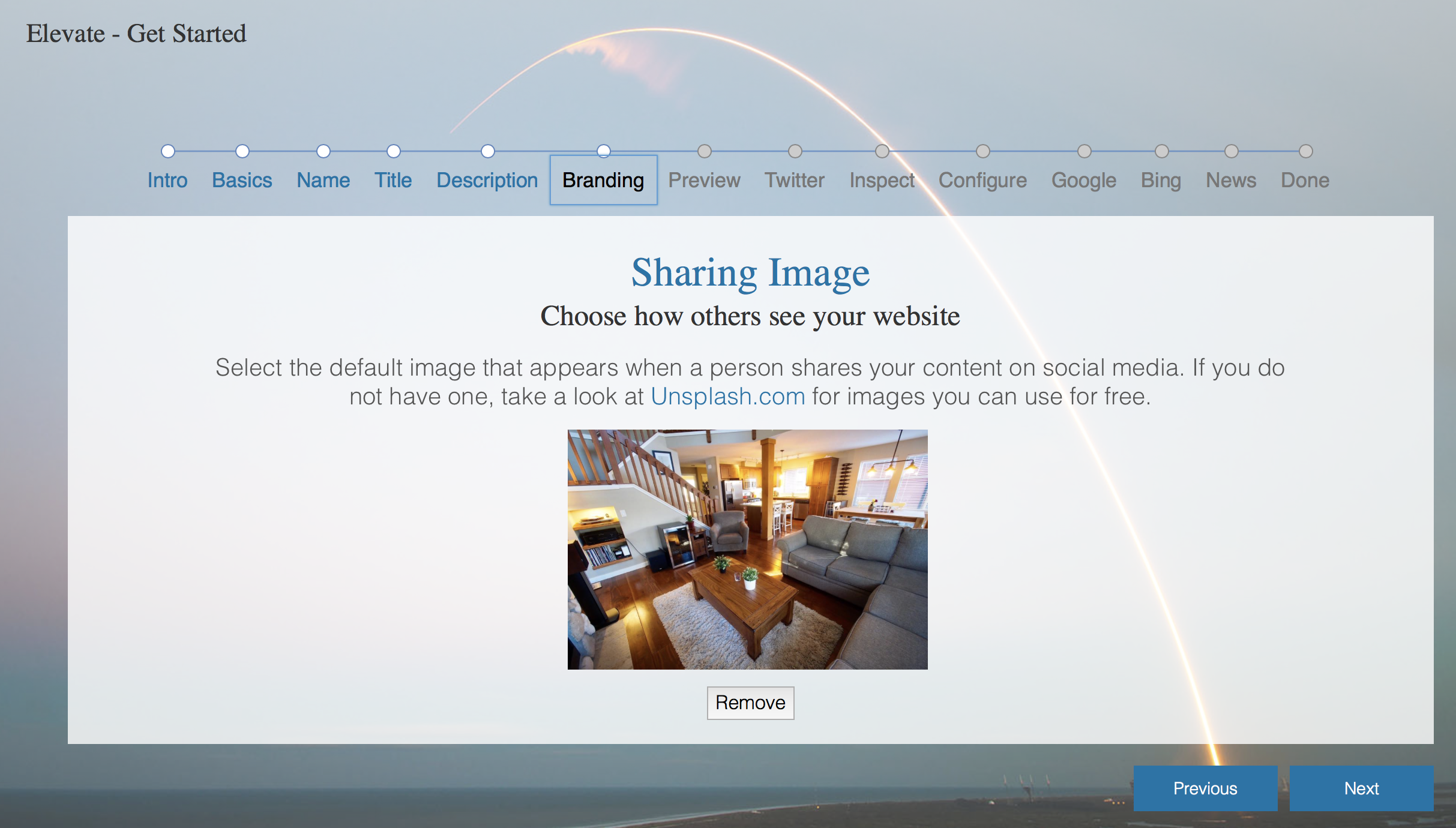 Adding a site-wide featured image
