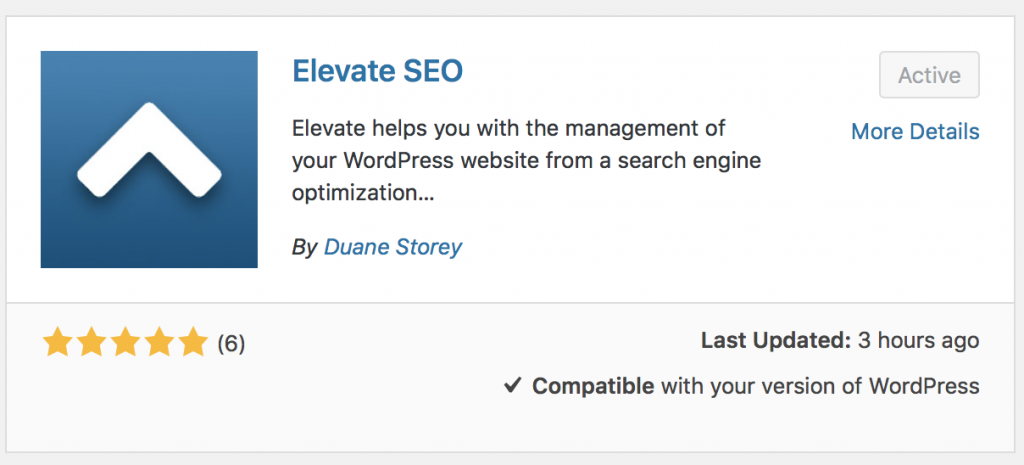 Elevate in the WordPress repository