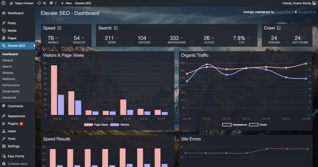 New Dashboard for Elevate