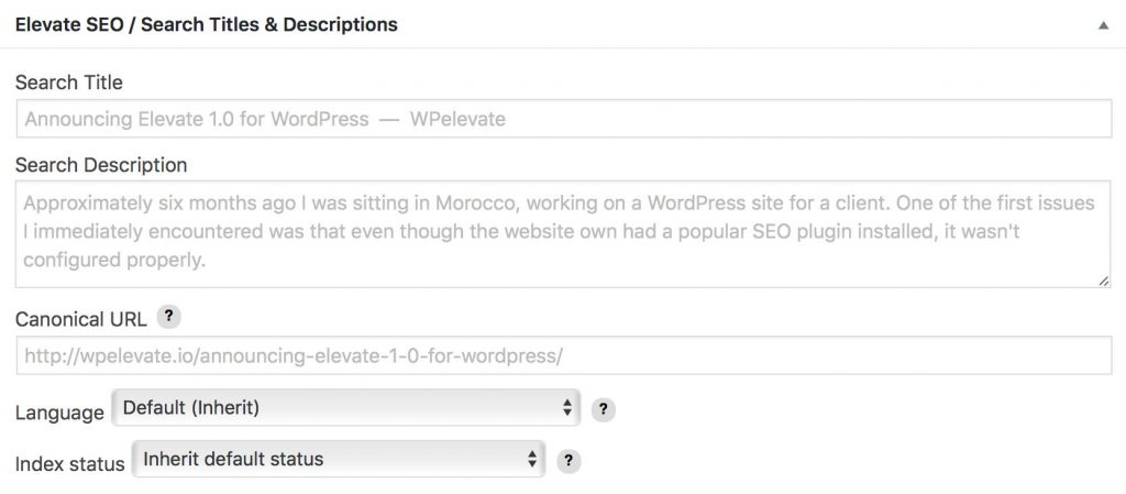Modifying SEO Titles and Descriptions in WordPress