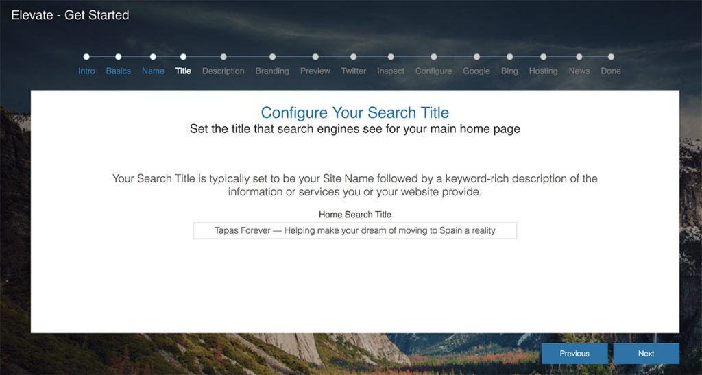 Configuring your site's primary search title